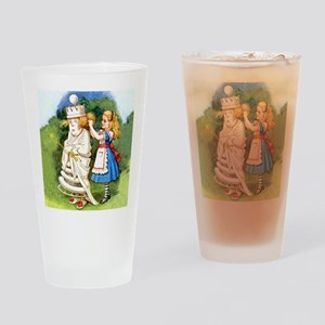 Alice and The White Queen Drinking Glass