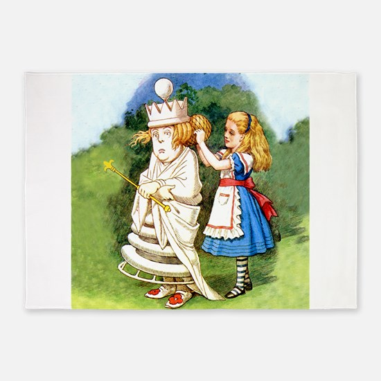 Alice and The White Queen 5'x7'Area Rug