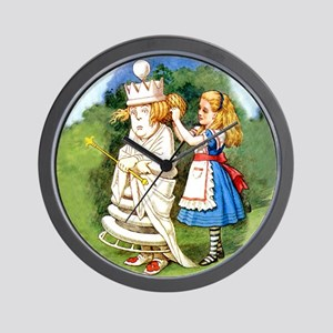 Alice and The White Queen Wall Clock