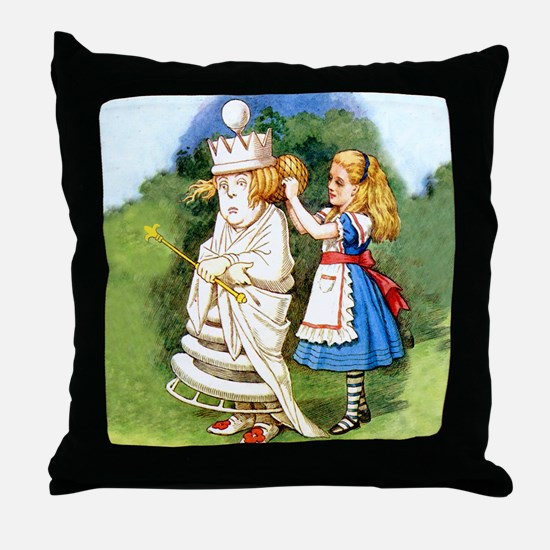 Alice and The White Queen Throw Pillow