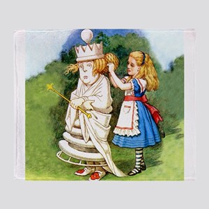 Alice and The White Queen Throw Blanket