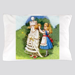 Alice and The White Queen Pillow Case