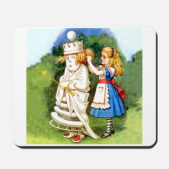 Alice and The White Queen Mousepad