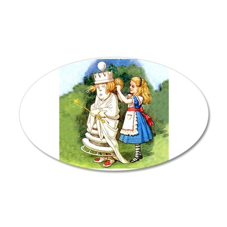 Alice and The White Queen 20x12 Oval Wall Decal