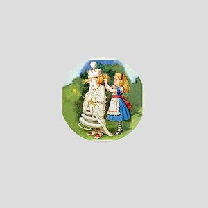 Alice and The White Queen Mini Button