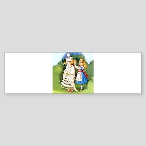 Alice and The White Queen Sticker (Bumper)
