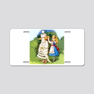 Alice and The White Queen Aluminum License Plate