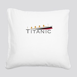 Sinking Titanic Square Canvas Pillow