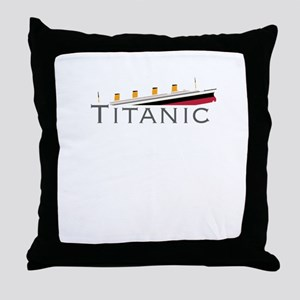 Sinking Titanic Throw Pillow