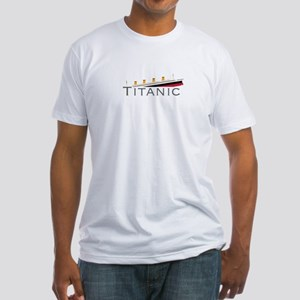 Sinking Titanic Fitted T-Shirt