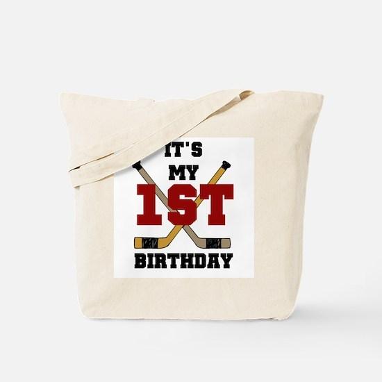 Hockey 1st Birthday Tote Bag