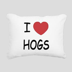 hogs Rectangular Canvas Pillow
