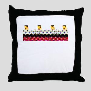 half tone titanic Throw Pillow
