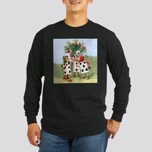 Painting the Queen's Roses Long Sleeve Dark T-Shir