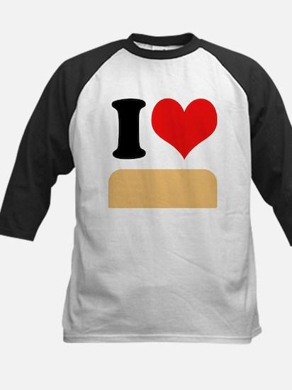 I heart Twinkies Kids Baseball Jersey