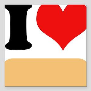 "I heart Twinkies Square Car Magnet 3"" x 3"""