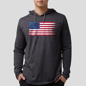 USA - 46 Stars Mens Hooded Shirt