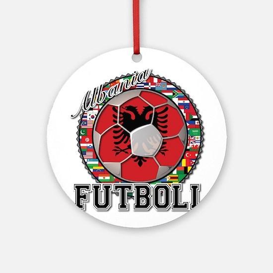 Albania Flag World Cup Futboll Ball Ornament (Roun