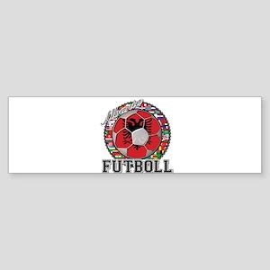 Albania Flag World Cup Futboll Ball Sticker (Bumpe
