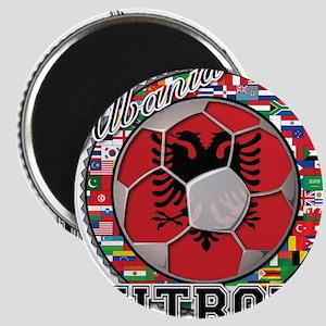 Albania Flag World Cup Futboll Ball Magnet