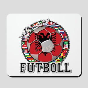Albania Flag World Cup Futboll Ball Mousepad