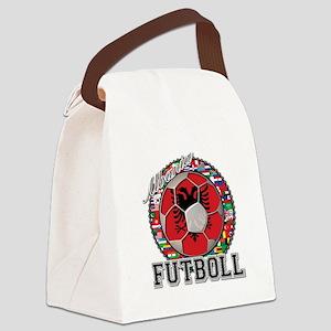 Albania Flag World Cup Futboll Ball Canvas Lunch B