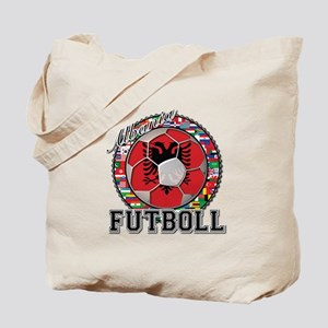 Albania Flag World Cup Futboll Ball Tote Bag