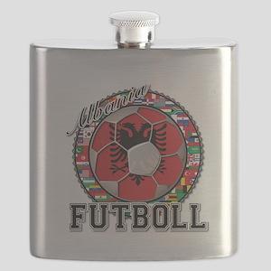 Albania Flag World Cup Futboll Ball Flask