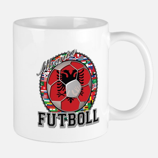 Albania Flag World Cup Futboll Ball Mug