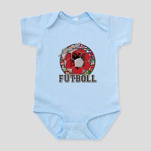 Albania Flag World Cup Futboll Ball Infant Bodysui
