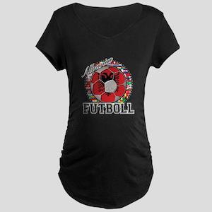 Albania Flag World Cup Futboll Ball Maternity Dark