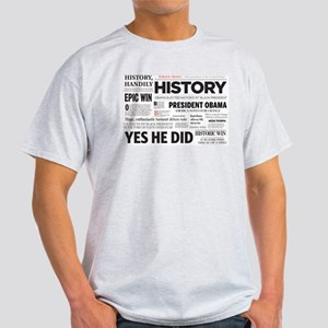 Obama Historic Headline Colla Light T-Shirt
