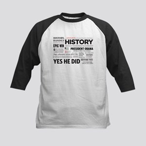 Obama Historic Headline Colla Kids Baseball Jersey