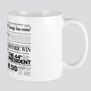 Obama Historic Headline Colla Mug