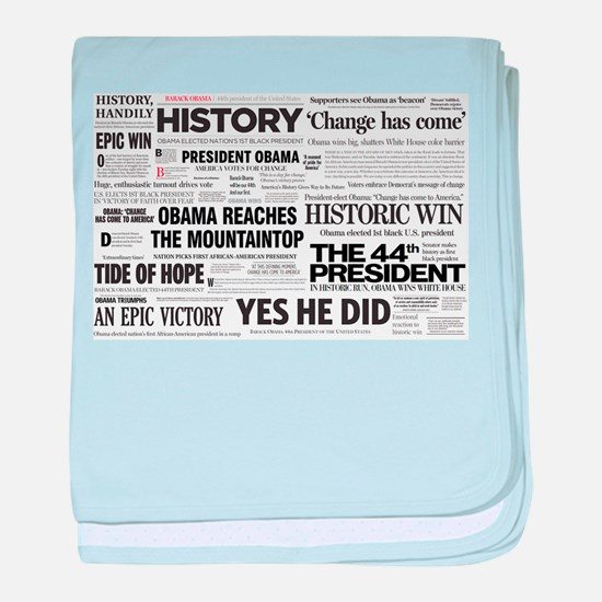 Obama Victory Collage baby blanket