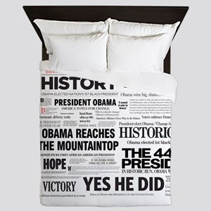 Obama Victory Collage Queen Duvet