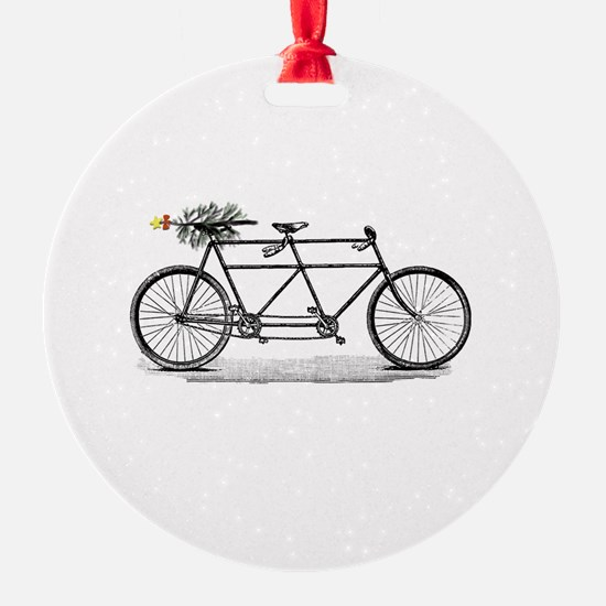 Tandem Bike Christmas Ornament