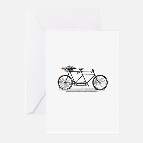 Tandem Bike Christmas Greeting Cards (Pk of 20)