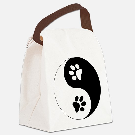 Yin Yang Paws Canvas Lunch Bag