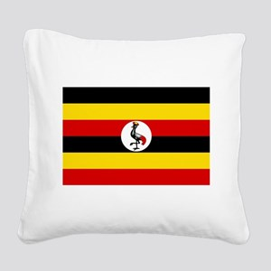 Uganda - National Flag - Current Square Canvas Pil