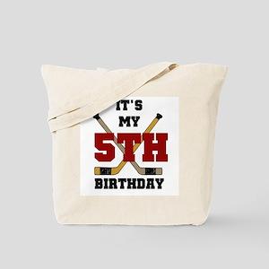 Hockey 5th Birthday Tote Bag