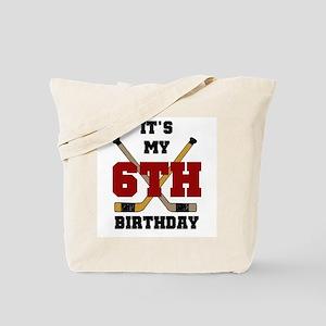 Hockey 6th Birthday Tote Bag
