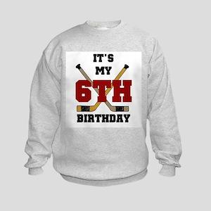 Hockey 6th Birthday Kids Sweatshirt