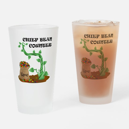 Chief Bean Counter Drinking Glass