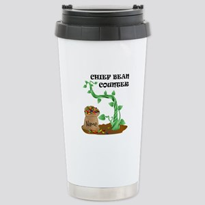 Chief Bean Counter Stainless Steel Travel Mug