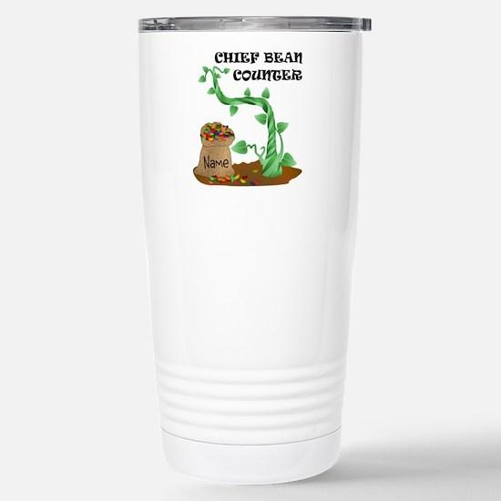 Chief Bean Counter Stainless Steel Travel Mug