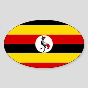 Uganda - National Flag - Current Sticker (Oval)