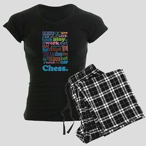 Chess Women's Dark Pajamas