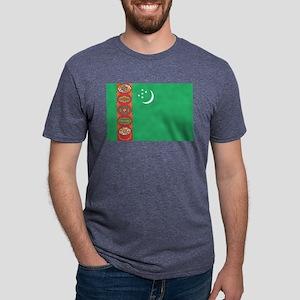 Turkmenistan - National Flag - Current Mens Tri-bl