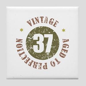 37th Vintage birthday Tile Coaster